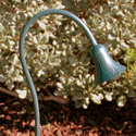"Focus Industries FPL-04-WBR 12V Cast Aluminum Tulip Flex Light with 36"" Flex Arm, Weathered Brown Finish"