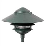 "Focus Industries IAL-03-10NL-RBV E26 Standard Base 3 Tier 10"" Pagoda Hat Area Light, Rubbed Verde Finish"