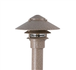 "Focus Industries IAL-03-10NL3-STU E26 Standard Base 3 Tier 10"" Pagoda Hat, 3"" Post Mount Base Area Light, Stucco Finish"