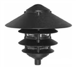 "Focus Industries IAL-04-10NL-BLT E26 Standard Base 4 Tier 10"" Pagoda Hat Area Light, Black Texture Finish"