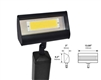 Focus Industries LFL-01-HELEDP8120V-WTX 120V 8W LED 3000K, Floodlight with Hood Extension, White Texture Finish