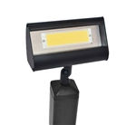 Focus Industries LFL-01-LEDP1212V-BLT 12V 12W LED 3000K, Floodlight, Black Texture Finish