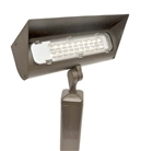 Focus Industries LFL-02-HE2753-BAR 120V 27W LED 5300K, Floodlight with Hood Extension, Brass Acid Rust Finish