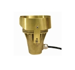Focus Industries PGL-05-AMBER 12V 35W MR16 Putting Green Cup Light with Amber Lens, Brass Finish