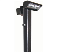 "Focus Industries PGL042L12WIR 12V 2x3W Omni LED Cast Aluminum Putting Light with 54"" ABS Post, Weathered Iron Finish"