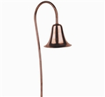 "Focus Industries PL-02-CAV 12V 18W S8 Incandescent 4.5"" Bell Path Light, Copper Acid Verde Finish"