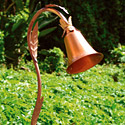 Focus Industries PL-13-CAV-120V 120V Path Light Copper Bell with Leaves, Copper Acid Verde Finish