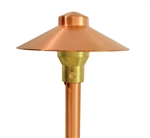 "Focus Industries RXA-01-COP 12V 20W T4 Halogen 6"" China Hat with Adjustable Hub Area Light, Unfinished Copper"