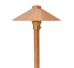 "Focus Industries RXA-03-COP 12V 20W T3 Halogen 9"" China Hat with Adjustable Hub Area Light, Unfinished Copper"