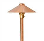 "Focus Industries RXA-03-F-CAM 12V 20W T3 Halogen 9"" China Hat Finial with Adjustable Hub Area Light, Camel Tone Finish"