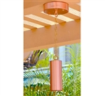 Focus Industries RXS-04-COP 12V 20W MR16 Halogen, Tube Shield Hanging Bullet with Chain and Canopy, Unfinished Copper