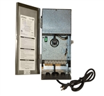 Focus Industries RXT-12-60MVT 60 watt Multi Volatge Stainless Steel transformer, output voltage 12.5V, 13.5V and 14.5V with Mechanical Timer