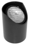 Focus Industries SL-01-25W-VWFL 12V 25W PAR36 Well Light Aluminum Lamp Holder, Black Finish