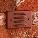Focus Industries SL-02-WBR 12V Stamped Aluminum 4 Louver Step Light, Weathered Brown Finish