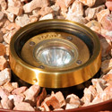 Focus Industries SL-03-TRC 12V Well Light with Glass Lens, Terra Cotta Finish