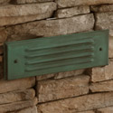 Focus Industries SL-04-AL-RBV 12V Stamped Aluminum Lensed Brick Light, Rubbed Verde Finish
