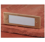 Focus Industries SL-04-ALLEDPBB25FBRS 8W LED Acrylic Lensed Step Light, Brass Flat, Back Box, 25 ft Wiring, Brass Finish