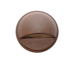 Focus Industries SL-07-SP-WBR 12V 18W S8 Incandescent Round Surface Step Light PVC Post, Weathered Brown Finish