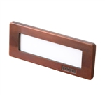 Focus Industries SL-08-AL-LEDPCL-BAV 12V 8W LED Flat Panel Step Light with Clear Lens, Brass Acid Verde Finish