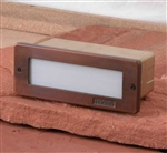 Focus Industries SL-08-ALLED3RBV 2x3W OMNI LED, Cast Aluminum, Acrylic Lens Brick Light, Rubbed Verde Finish