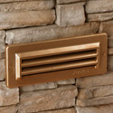 Focus Industries SL-08-BAV-120V 120V Louvered Brick Light, Brass Acid Verde Finish