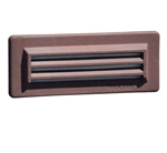Focus Industries SL-08-LEDP-WBR 12V 8W LED Flat Panel 3 Louver Step Light, Weathered Brown Finish
