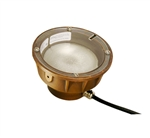 Focus Industries SL-11-50W-BAR 12V 50W PAR36 Halogen, Underwater Light, Brass Acid Rust Finish