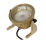 Focus Industries SL-11-AB-50W 12V 50W PAR36 Halogen, Underwater Light with Aiming Bracket, Unfinished Brass