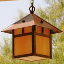 Focus Industries SL-12-BAR-120V 120V Hanging Brass Lantern, Brass Acid Rust Finish