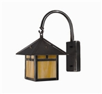 Focus Industries SL-13-BAR 12V 18W S8 Incandescent, Wall Mount Lantern, Brass Acid Rust Finish