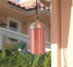 Focus Industries SL-14-LED325FRST 3W OMNI LED, Aluminum Hanging Cylinder, Brass Chain, Jbox, 25 Ft Wiring, Rust Finish