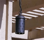 Focus Industries SL-15-LED3RBV 3W OMNI LED, Extruded Aluminum Hanging with Starlight Holes, Chain, Jbox, Rubbed Verde Finish