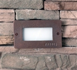 Focus Industries SL-17-ALLED3WBR 3W OMNI LED, Cast Aluminum Acrylic Lens Step Light, Weathered Brown Finish