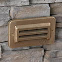 Focus Industries SL-17-BAV-120V 120V Louvered Step Light, Brass Acid Verde Finish