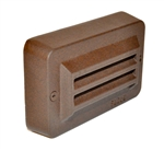 Focus Industries SL-17-LED3WBR 3W OMNI LED, Cast Aluminum  3 Louvers Step Light, Weathered Brown Finish