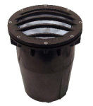 Focus Industries SL-20G-FL26 120v 2x13w CFL Sealed composite Grated Well Light with Lens, Bronze Finish