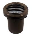 Focus Industries SL-20SMG-PAR20-WBR 120V PAR20 Sealed Composite Grated Well Light, Weathered Brown Finish
