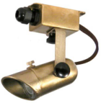 Focus Industries SL-29-BRS 12V Cast Brass Mini Adjustable Surface Bullet, Brass Finish
