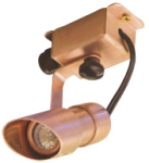 Focus Industries SL-29-COP-CAV 12V Extruded Copper Mini Adjustable Surface Bullet, Copper Acid Verde Finish