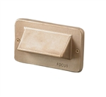 Focus Industries SL-30-LEDP-BRS 12V 4W LED Flat Panel 1 Louver Step Light, Unfinished Brass