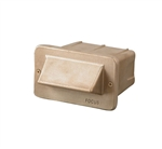 Focus Industries SL-30-T7-STU 120V 15W T7 Halogen 1 Louver Step Light, Stucco Finish