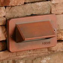 Focus Industries SL-30-TRC 12V Single Louver Step Light, Terra Cotta Finish