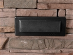 Focus Industries SL-31-LED3BLT 2x3W OMNI LED, Cast Aluminum, Single Louver Brick Light, Black Texture Finish