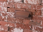 Focus Industries SL-31-LED3WBR 2x3W OMNI LED, Cast Aluminum, Single Louver Brick Light, Weathered Brown Finish