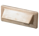 Focus Industries SL-31-LEDP-WBR 12V 8W LED Flat Panel 1 Louver Step Light, Weathered Brown Finish