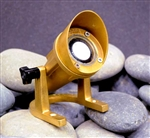 Focus Industries SL-33-ABACLED 12V 4W LED Brass Underwater Light, Aiming Bracket, Angle Cap, Brass Finish