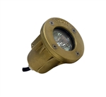 Focus Industries SL-33-SMACLED 12V 4W LED Brass Underwater Light, Side Mount, Angle Cap, Brass Finish
