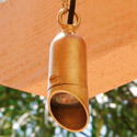 "Focus Industries SL-39-WBR 12V 1.5"" Cast Aluminum Hanging Mini Bullet, Weathered Brown Finish"