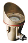 Focus Industries SL-40-SM-AC 12V MR11 Brass Underwater Light with Side Mount Cord and Angle Collar, Brass Finish