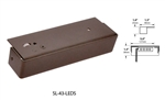 Focus Industries SL-43-LEDS-WBR 12V 2W LED, Rail Light, Weathered Brown Finish